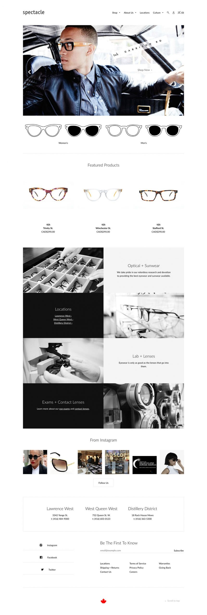 Spectacle Website