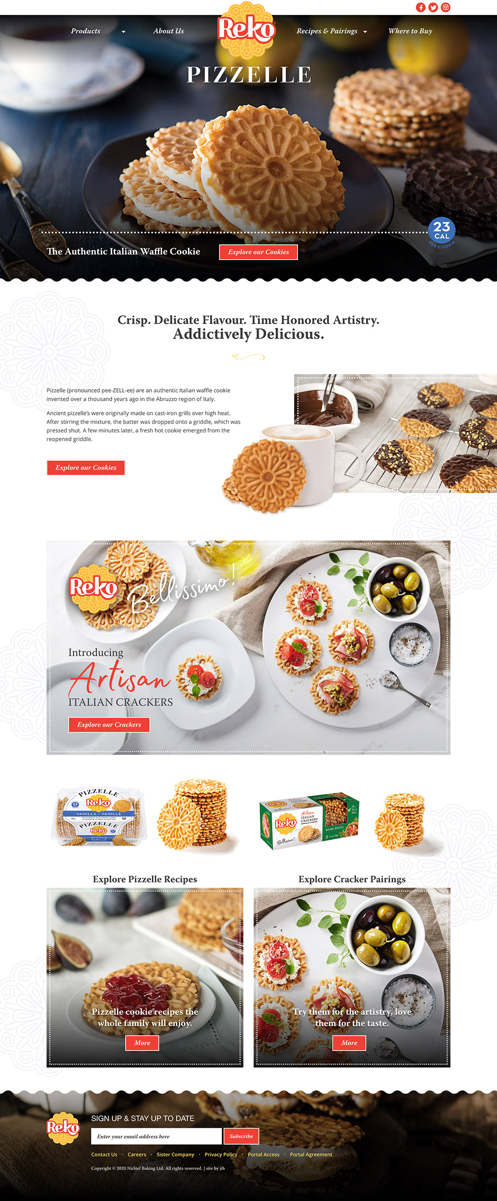 Reko Pizzelle Website